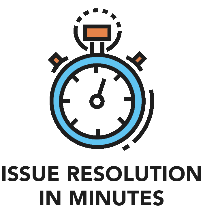 Issue resolution in minutes
